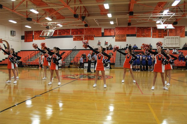 Cheerleaders during a home game