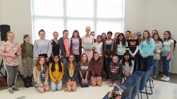 7th graders visited with KY Author C.C. Payne after reading her novel in class.