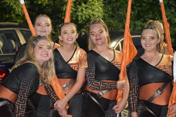 Color Guard at Beechwood competition - Sept. 2019