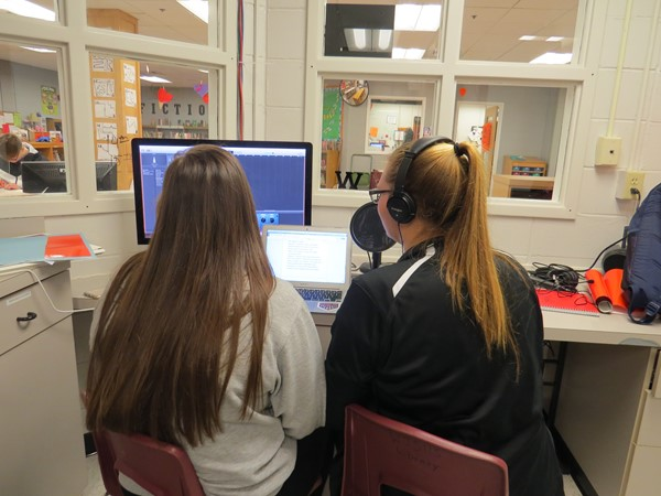 Students in Music Theory work on their Baroque Period Podcast Assignment using Garage Band