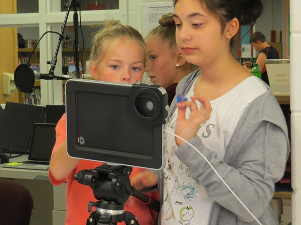 JR High students creating videos
