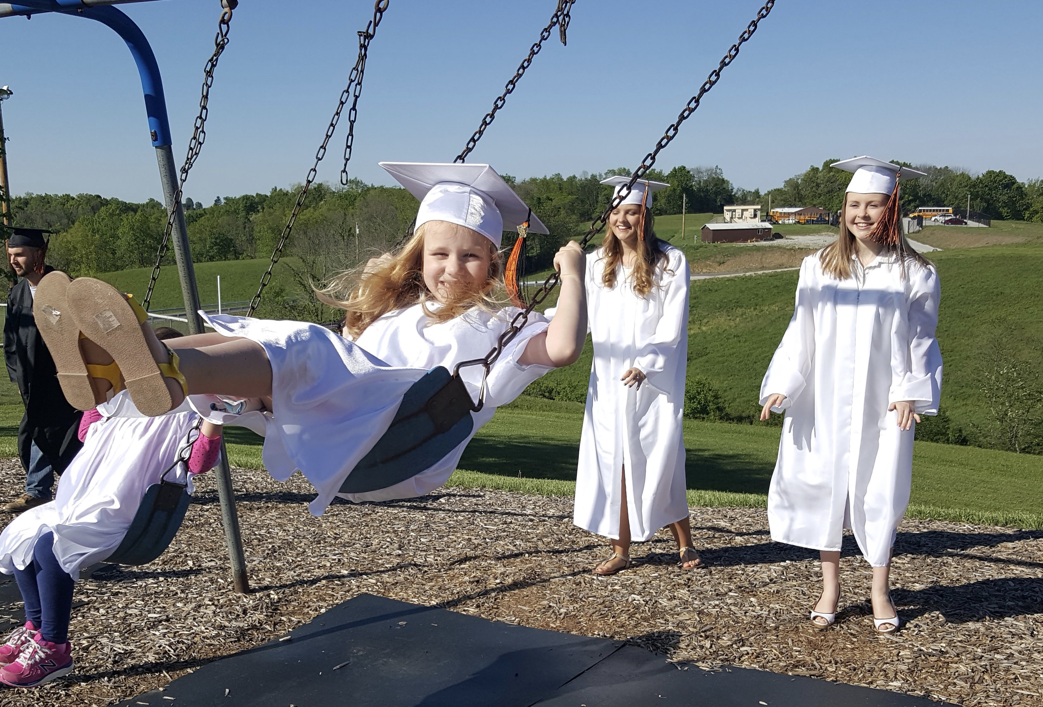 Kindergarten graduates are ready to swing into 1st grade!