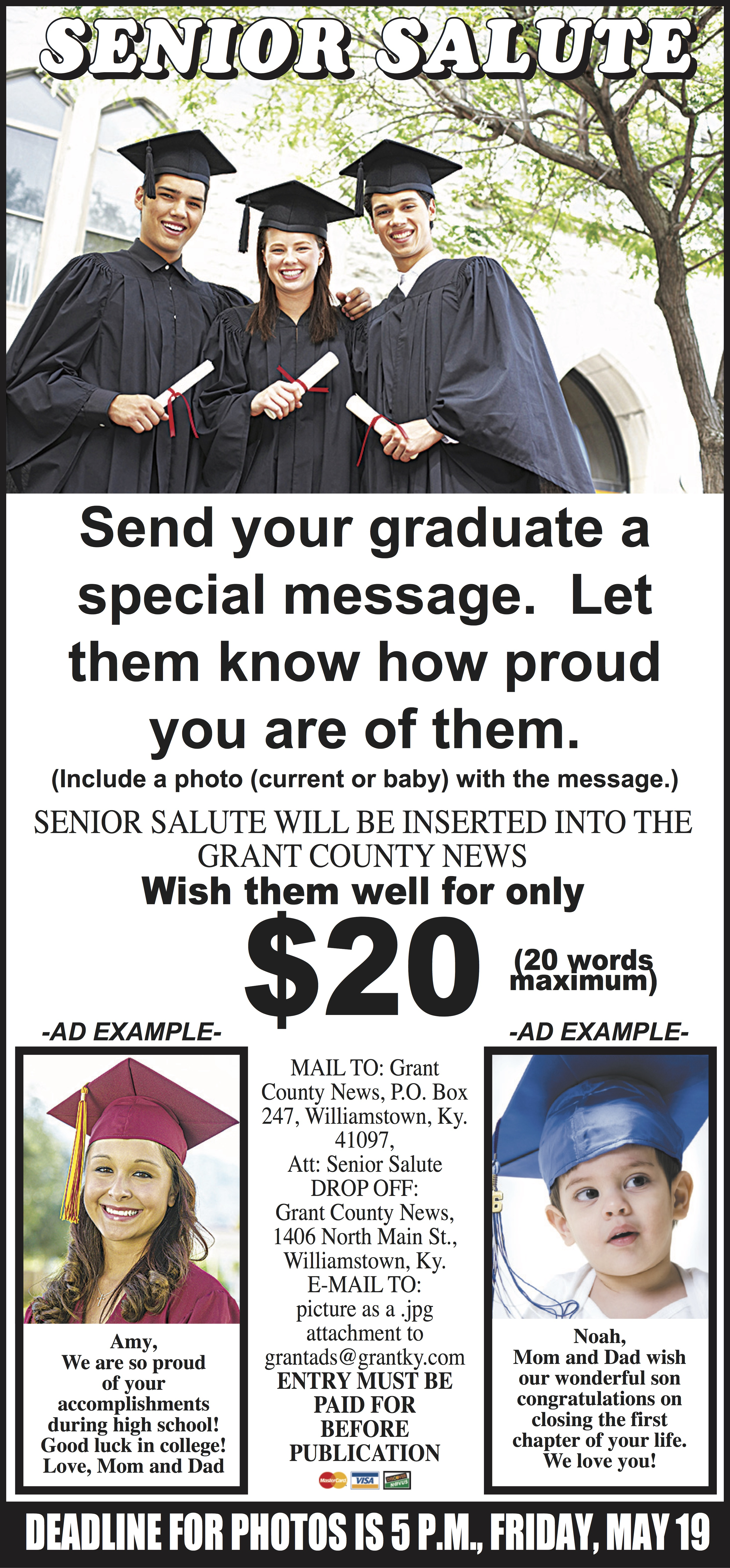 Senior Salute Information from the Grant County News